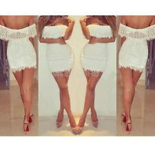 #gib Women Summer Bandage BodyCon Lace Evening Sexy Party Cocktail MINI Dress