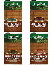 Cuprinol Shed & Fence Protector 5 Litres 4 COLOURS