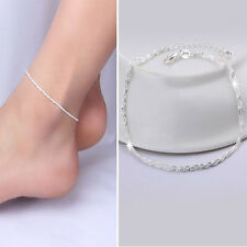 Charming Women Silver Plated Chain Anklet Bracelet Barefoot Beach Jewelry NEW CN