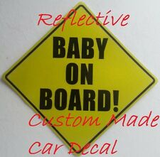 BABY ON BOARD self adhesive Reflective sticker for SUVs and CARs - Multi Pack
