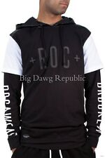 Rocawear Mens Boys Brooklyn Double Sleeve T-Shirt Hoodie With Zips Hip Hop R008