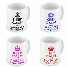 Keep Calm And Carry On Coaching Coffee / Tea Mugs - Brand New