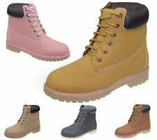 Womens High Top Boots Hiking Desert Combat Ladies Ankle Work Biker Shoes Size