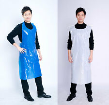 Disposable Plastic Aprons Polythene Aprons On Rolls Eco Pack White / Blue Colors