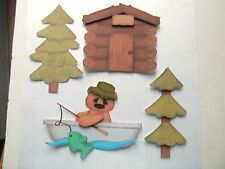 3D~U Pick~Camping Fishing Bear Canoe Log Cabin Scrapbook Card Embellishment #183