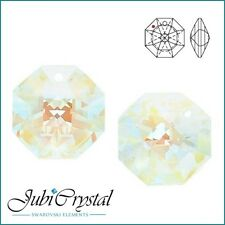 2 PC SWAROVSKI ELEMENTS 8115 Octagon 14mm Pendant Crystal -  All Colours &Effect