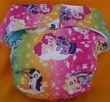 All In One Adult Baby Reusable Cloth Diaper S,M,L,XL My Little Pony Rainbow