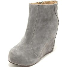 0946G stivaletto zeppa grigio JEFFREY CAMPBELL PIXIE scarpa donna shoes women