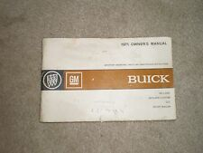 OWNERS MANUAL 71 BUICK GS SKYLARK STAGE1 GSX SPORT WAGON