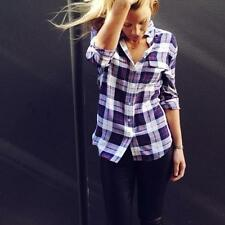 NEW $258 Equipment Audacious Plaid Check Signature Silk Blouse Shirt  XS S M
