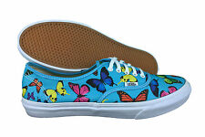 VANS. Authentic Slim. Butterflies / Scuba Blue Unisex Shoe. Mens US Size 9 ,9.5.
