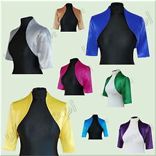 satin bolero CLASSIC sleeve to the elbow - size UK 6 to 32 - 15 colors