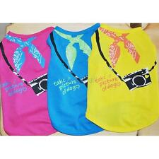 Cute Pet Dog Cat Summer Printed T-shirt Vest Clothes Cotton Dog Apparel XS/S/M/L