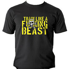 Train Like a Beast T-Shirts Bodybuilding Gym Workout Crossfit Kettlebell Fitness