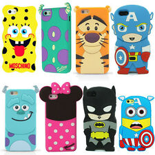 3D Cartoon Super Hero Silicone Back Case Cover for iPhone & Samsung Galaxy N7106