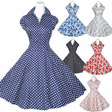 Maggie Tang 50s VTG Floral Housewife Rockabilly Pinup Party Dress R-512