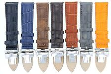 18-20,20-22-24MM LEATHER BAND STRAP DEPLOYMENT CLASP FOR BREITLING 2B