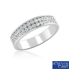 0.45 Ct Certified Natural Round Cut Diamond Ring Band 925 Sterling Silver Ring