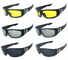 Choppers Mens Motorcycle Biker Sunglasses UV Protection Free Pouch C39