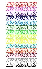 BOAT PWC WATER CRAFT HULL ID JET SKI SEA DOO CUSTOM REGISTRATION DECAL STICKER 9
