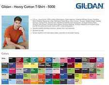 Gildan Heavy Cotton T-SHIRTS BLANK BULK LOT Colors or White S-XL Wholesale