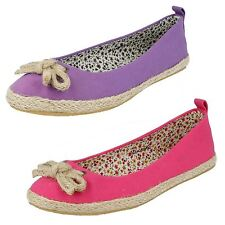 Ladies Spot On Canvas Espadrilles Style - F2234