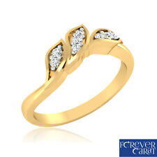 0.07Ct Certified Natural & Real Diamond Ring 14kt Hallmarked Gold Ring Jewellery