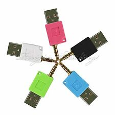 3.5MM USB CHARGER SYNC DOCK ADAPTER CONNECTOR FOR APPLE IPOD SHUFFLE 2ND 3RD GEN