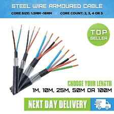 ARMOURED CABLE 1.5MM-16MM 2 CORE -5 CORE SWA CABLE X1M, X10M, X25M, X50M, X100M