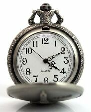 Elegant Vintage Modern Cute Necklace Gift Pocket Watch Key Chain NEW