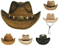 Straw Hat Western Straw Cowboy Country Indian Rodeo Hat Sunhat Summer Hat New