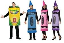 NWT ADULT CRAYOLA CRAYON HALLOWEEN COSTUMES- BLUE - VIOLET - TICKLE ME- PINK BOX