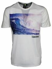 MENS TSHIRT CREW NECK CRIMINAL DAMAGE SHORT SLEEVE IN WHITE DESIGNER TEE S - XL