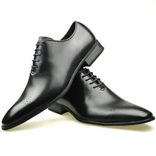 Mens Leather Shoes Black Brogue Smart Lace Up Formal Dress SIZE UK 6 7 8 9 10 11