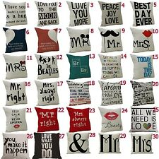 Fashion Linen Blend Home Decorative Throw Pillow Case Cushion Cover