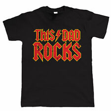 This Dad Rocks, Mens Funny T Shirt  - Birthday Gift for Dad Him Fathers Day