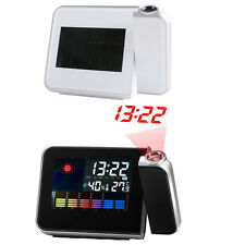 Projection Digital Weather LCD Snooze Alarm Clock w/ LED Backlight
