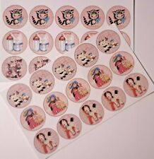 30-90 PRE-CUT EDIBLE WAFER CUP CAKE TOPPERS NEW BABY GIRL CHRISTENING SHOWER