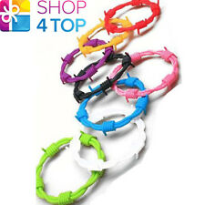 BARBED WIRE BRACELET COLORFUL RUBER BAND ACCESSORY JEWELRY FASHION NOVELTY NEW