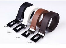 Men's Casual Waistband Luxury Leather Automatic Buckle Belt Waist Strap Belts