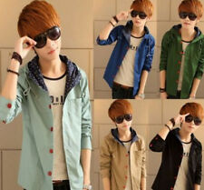 2015 Mens Korean Slim Fit Coat Hooded Casual Tops Jacket Hoodies Coat Clothes