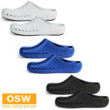 UNISEX NON-SLIP HOSPITALITY CHEF FOOTWEAR AIR VENTED KITCHEN CANTEEN CLOGS SHOES