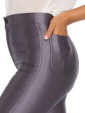 WOMENS/LADIES AMERICAN APPAREL STYLE SHINY DISCO TROUSER  PANTS SIZE 6_14