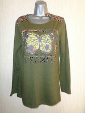 BNWT Ladies Various Size Kaleidoscope Green Butterfly Multicolour Top RRP £38
