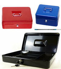 PETTY CASH MONEY BOX BANK SAFE SECURITY STEEL TIN DEPOSIT WITH 2 KEYS 3 COLOURS