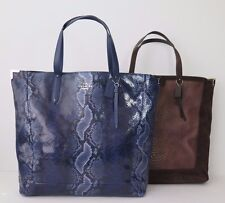 Coach Josie Exotic Croc Embossed & Python Snake XL Leather Tote NWT $598.00