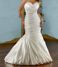 Graceful Plus Size Wedding Dress Mermaid For Women Bridal Gown Special Occasion