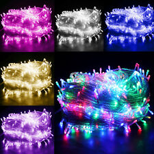 20-100M LED Fairy String Lights Christmas Party UK PLUG Garden Outdoor/Side/Home