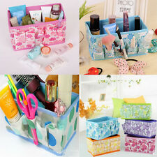 Cute Folding Multifunction Makeup Cosmetic Storage Box Container Case Organizer