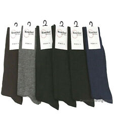 6,12 Knocker Men's Solid Mix Assorted Colors Ribbed Dress Socks Lot Size 10-13